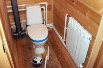 Разводка труб в ванной и туалете