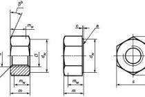 Гост iso 4036-2014 гайки шестигранные низкие без фаски (тип 0). класс точности в