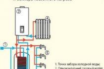 Примеры востребованных схем подключения одноконтурного газового котла с бойлером косвенного нагрева