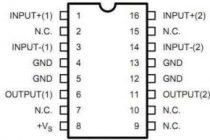 Схема стереоусилителя на популярной микросхеме tda2822