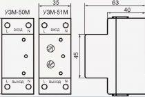 Подключение и установка реле напряжения узм-51м
