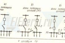 Принципы построения однолинейной схемы энергоснабжения цеха