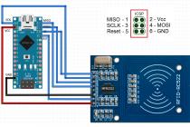Как подключить rfid считыватель rc522 к arduino