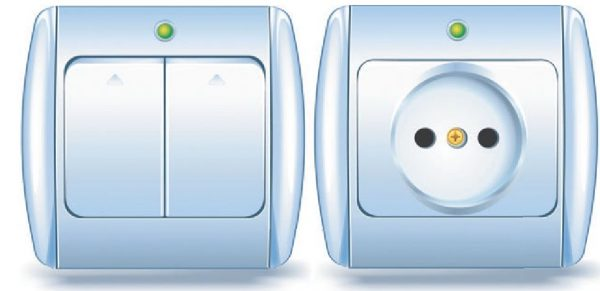 Выключатель и розетка