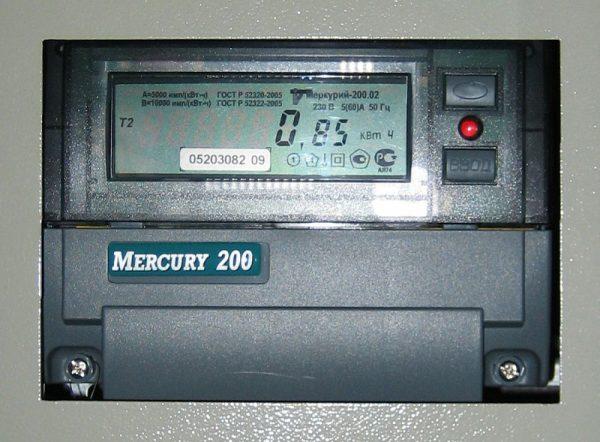 Электронный счётчик Меркурий