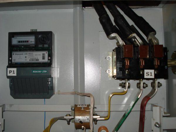 Подключение счетчика электроэнергии через трансформатор тока