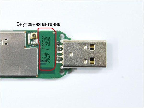 Внутренняя антенна USB модема