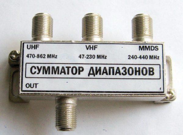 Диплексер для ТВ приемника