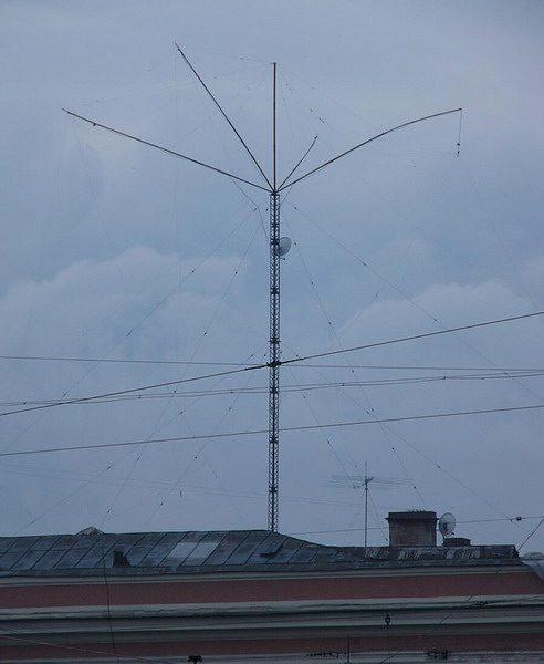 Многодиапазонная антенна в городе