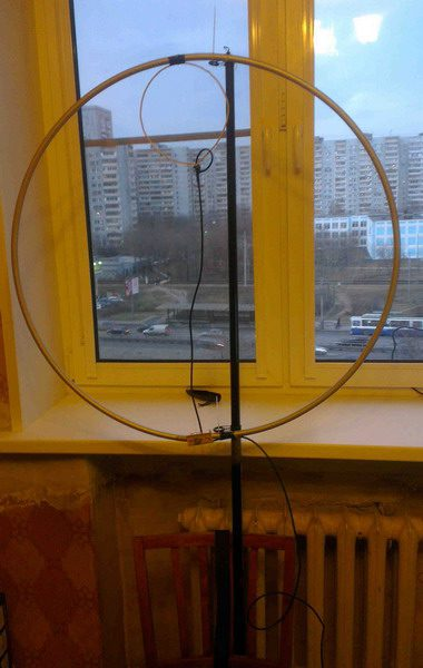 Магнитная антенна из обруча