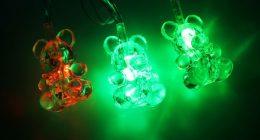 Светодиодная гирлянда с мишками