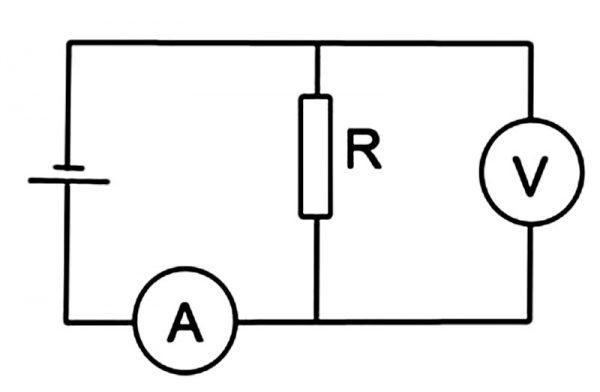 Включение амперметра
