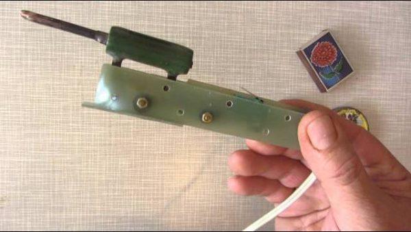 Пример паяльника из резистора ПЭВ-10