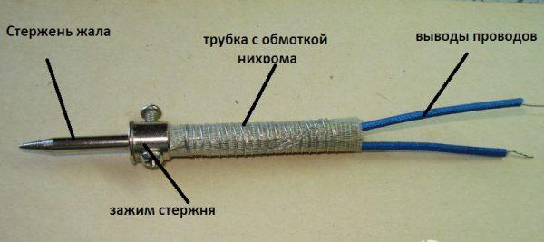 Элементы нихромового нагревателя