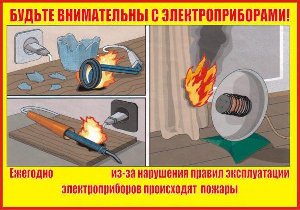Внимательность при работе с электроприборами