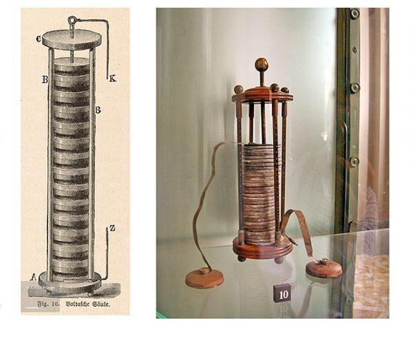 Гальванический элемент Вольта – прообраз современной батарейки