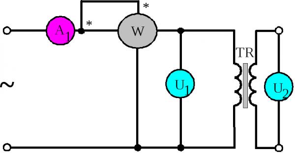 Схема для теста х.х.