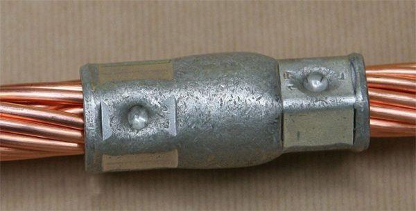 Обжимное соединение кабеля