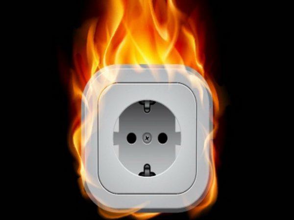 Возгорание вследствие короткого замыкания