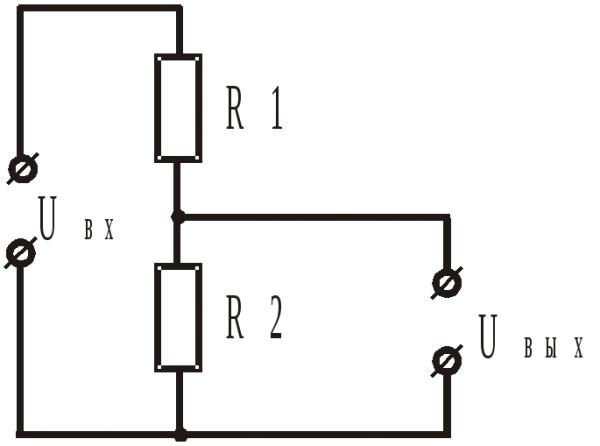 Расчетная схема делителя напряжения