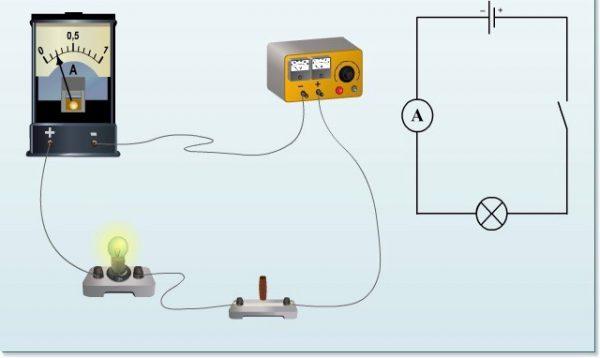Схема подсоединения амперметра