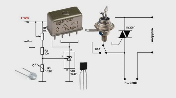 Схема самодельного терморегулятора