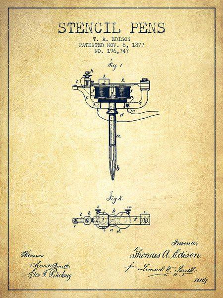 Схематическое изображение пневматической ручки-трафарета