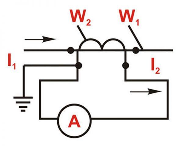 Включение трансформатора тока