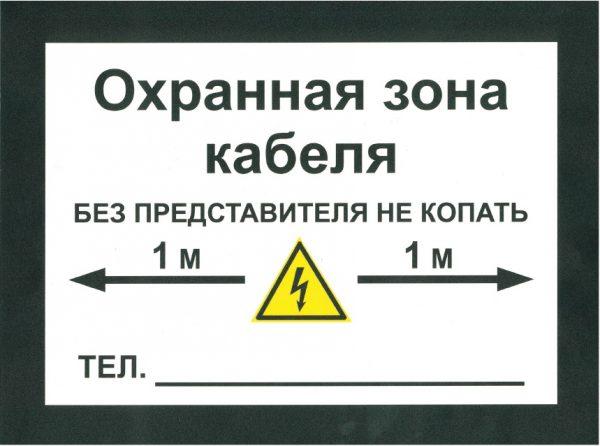 Охранная зона КЛ