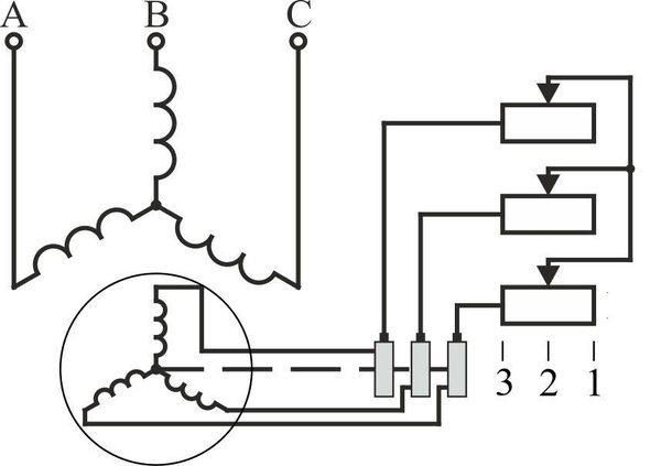 Схема электродвигателя с фазным ротором