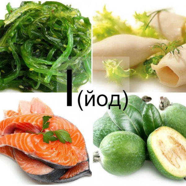 Йод содержится в продуктах питания