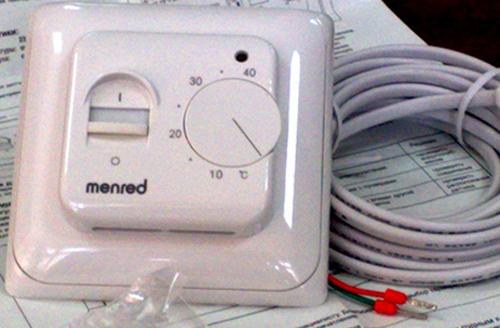 Термостат с датчиком для теплого пола