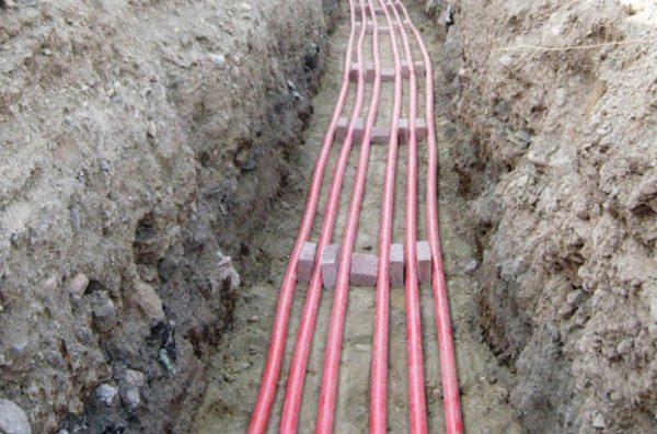Параллельная укладка кабеля