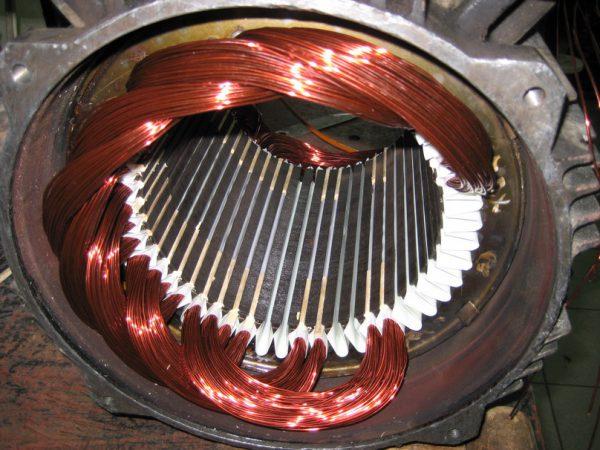 Перемотка статора электродвигателя