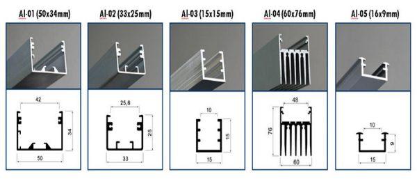 Размеры некоторых коробов для светодиодной ленты
