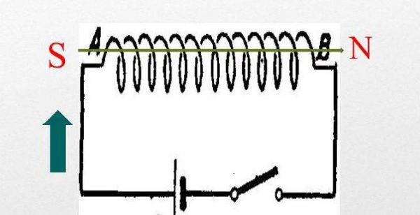 Схема подключения катушки индуктивности к источнику тока
