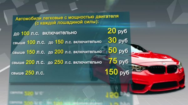 От количества лошадиных сил в моторе зависит величина налога