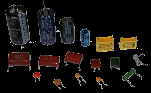 Различные типы конденсаторных элементов