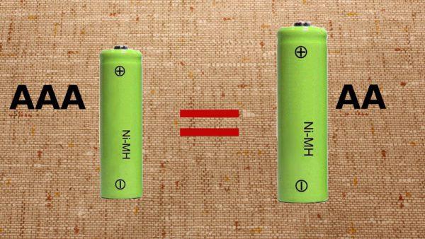 Разновидности пальчиковых батареек АА и ААА