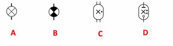 Отображения световых источников на электросхемах