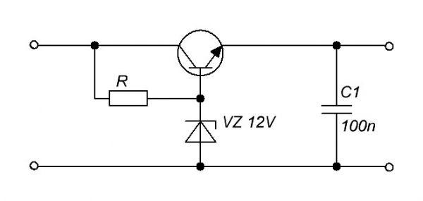 Линейный стабилизатор с транзистором