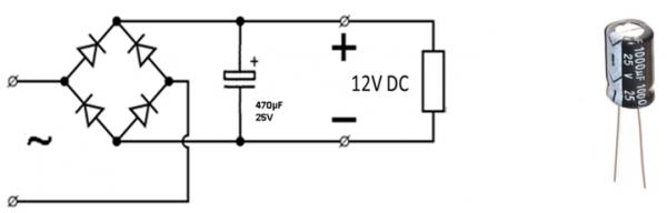Часть схемы простейшего БП без трансформатора