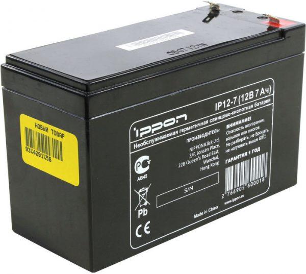 Параметры батареи ИБП