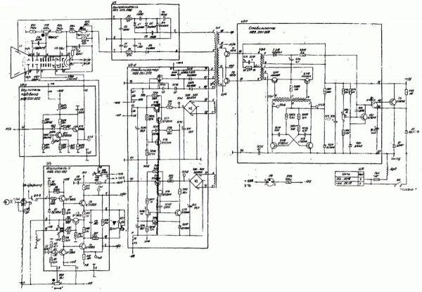 Принципиальная схема осциллографа С1-73