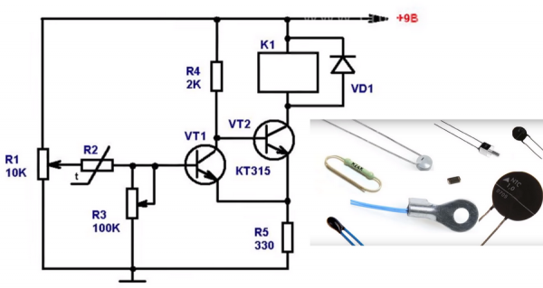 Схема работы терморегулятора