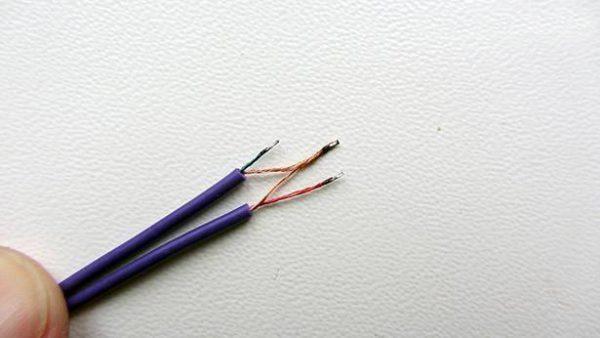 Провода кабеля перед пайкой