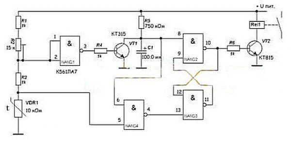 Схема терморегулятора для отопления