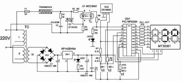 Терморегулятор с регулируемым гистерезисом