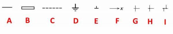 УГО линий связи на электросхемах (ГОСТы №2.751.73 и №2.721-74)
