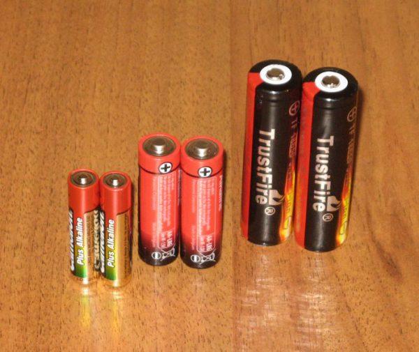 Литий ионные батарейки